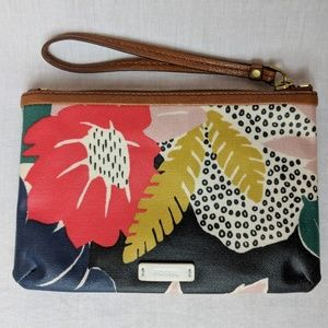 FOSSIL Keeley floral coated canvas wristlet